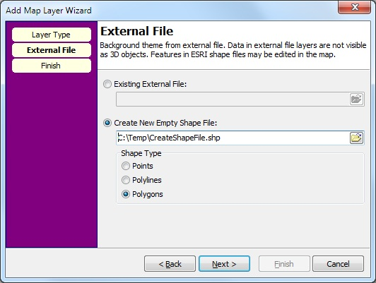 Create New Empty Shape File in the map window - How To - I-GIS